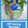 Garden Hose DIY Spring Wreaths at Hardworking Mom